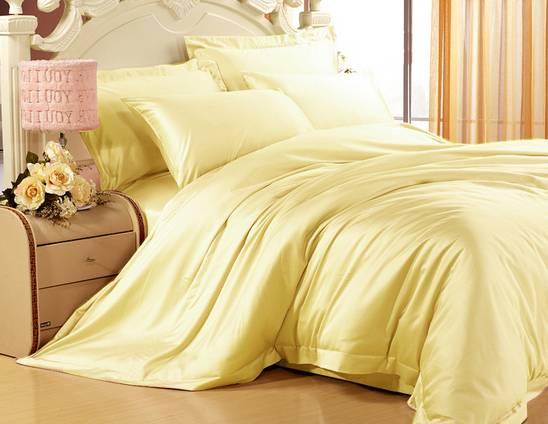 Однотонное постельное белье из сатина, 100% хлопок