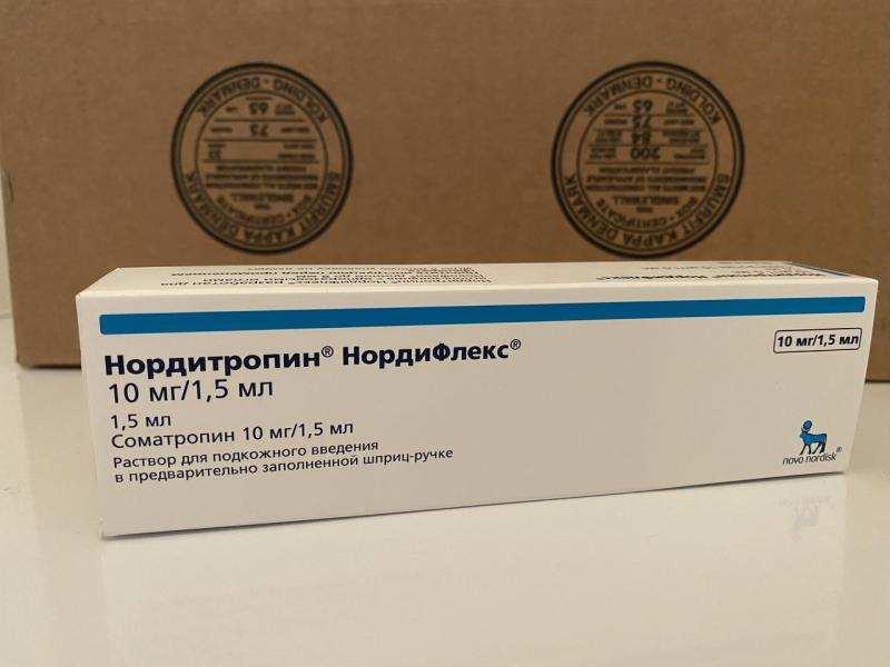 Нордитропин, нордифлекс, шприц-ручка для гормона роста.